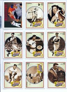 Details About Ted Williams Boston Red Sox Upper Deck Baseball Heroes 9 Card Set