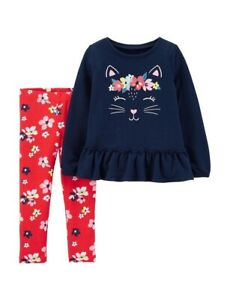 Carters Baby Clothing Outfit Girls Solid Leggings Navy 6M