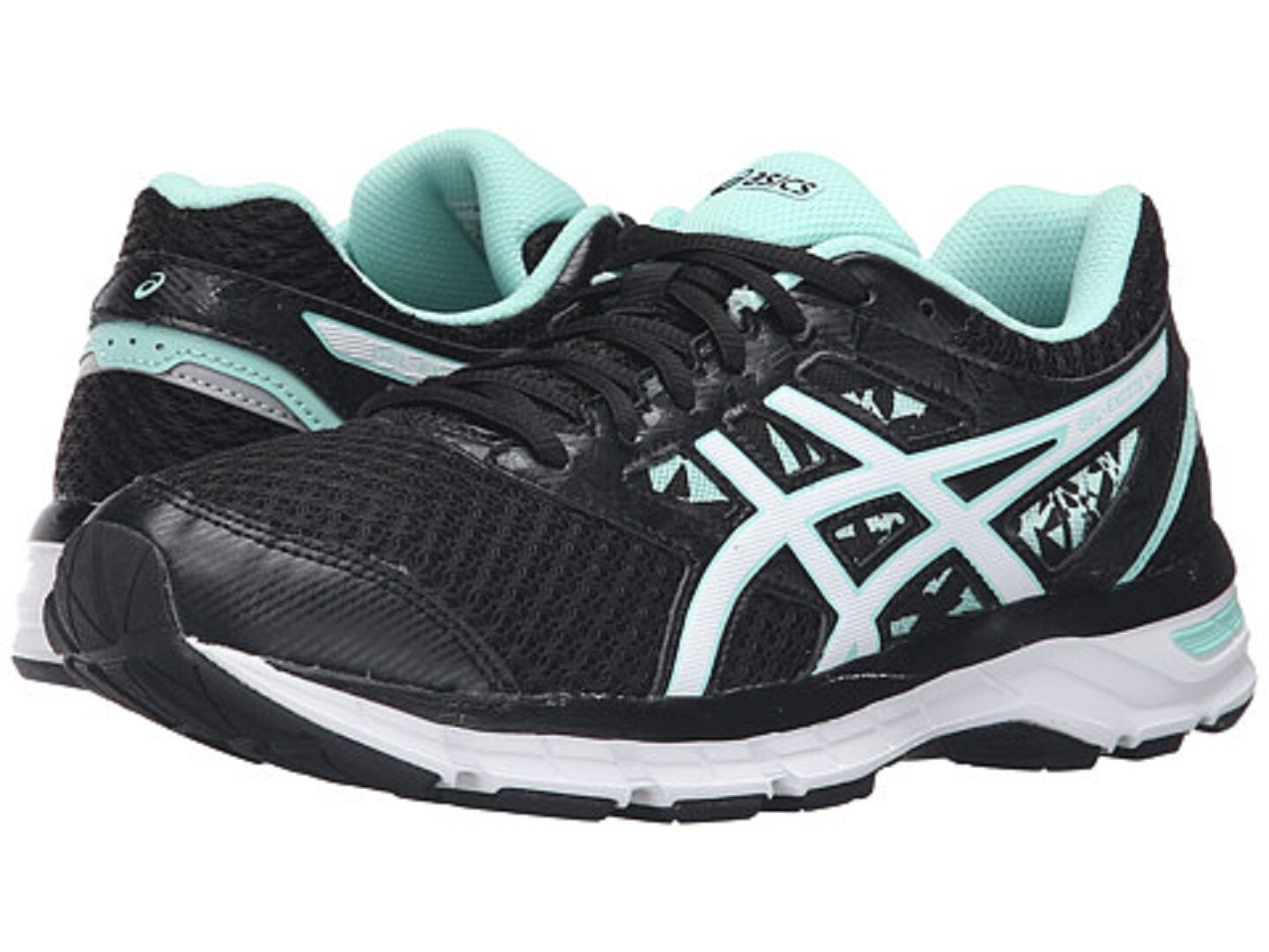 ASICS T6E8N.9001 GEL-EXCITE 4 Wmn's (M) Black White Mint Mesh Running shoes
