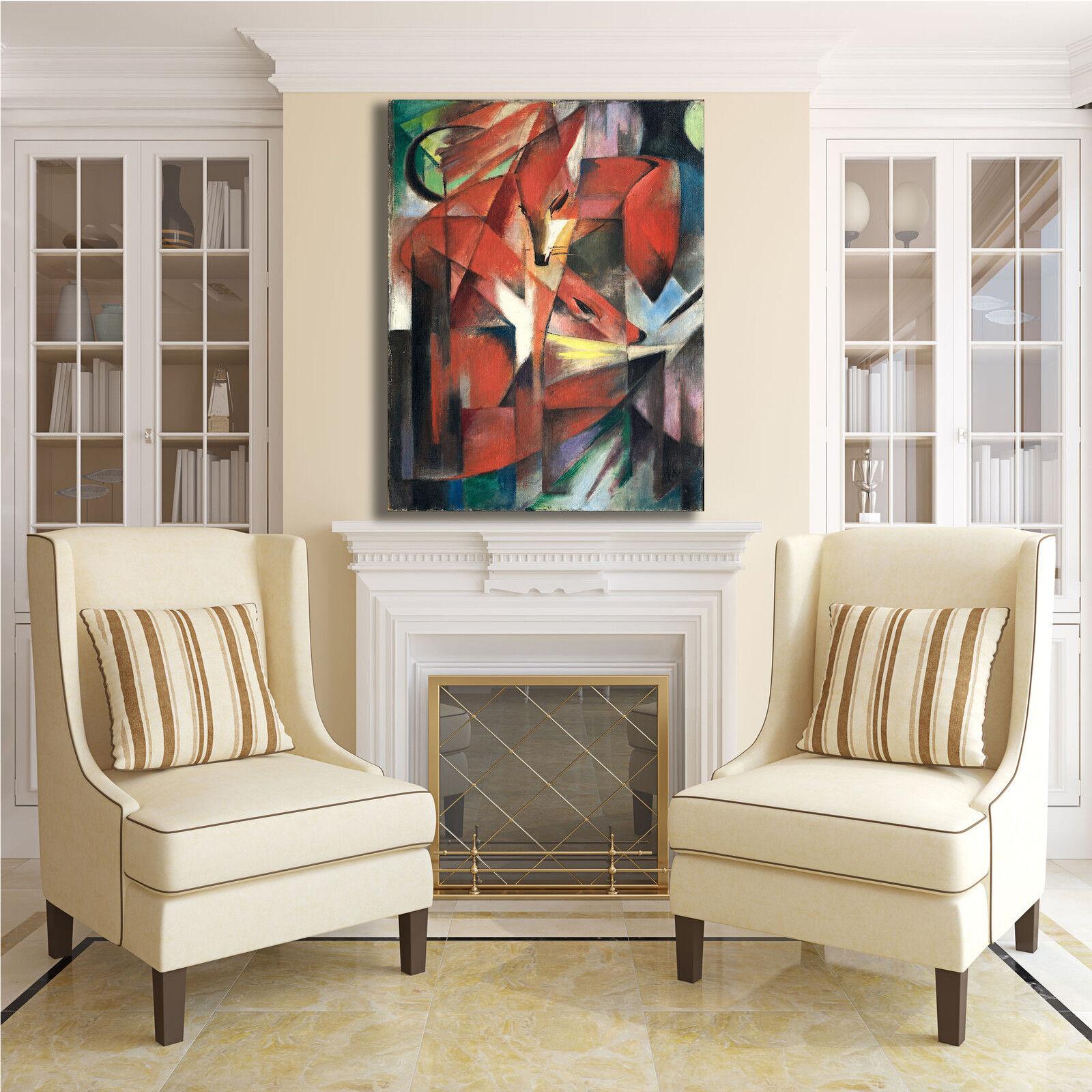 Franz Marc le volpi design design volpi quadro stampa tela dipinto telaio arRouge o casa be6de9