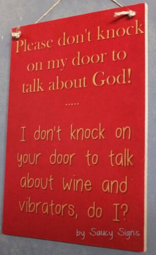 Red Naughty Door Knockers Wine Vibrator God Sign No Soliciting Vibrators Warning
