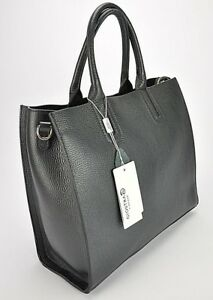 Borsa-donna-shopping-bag-pelle-bovina-di-prima-scelta-realizzata-a-mano-NERO