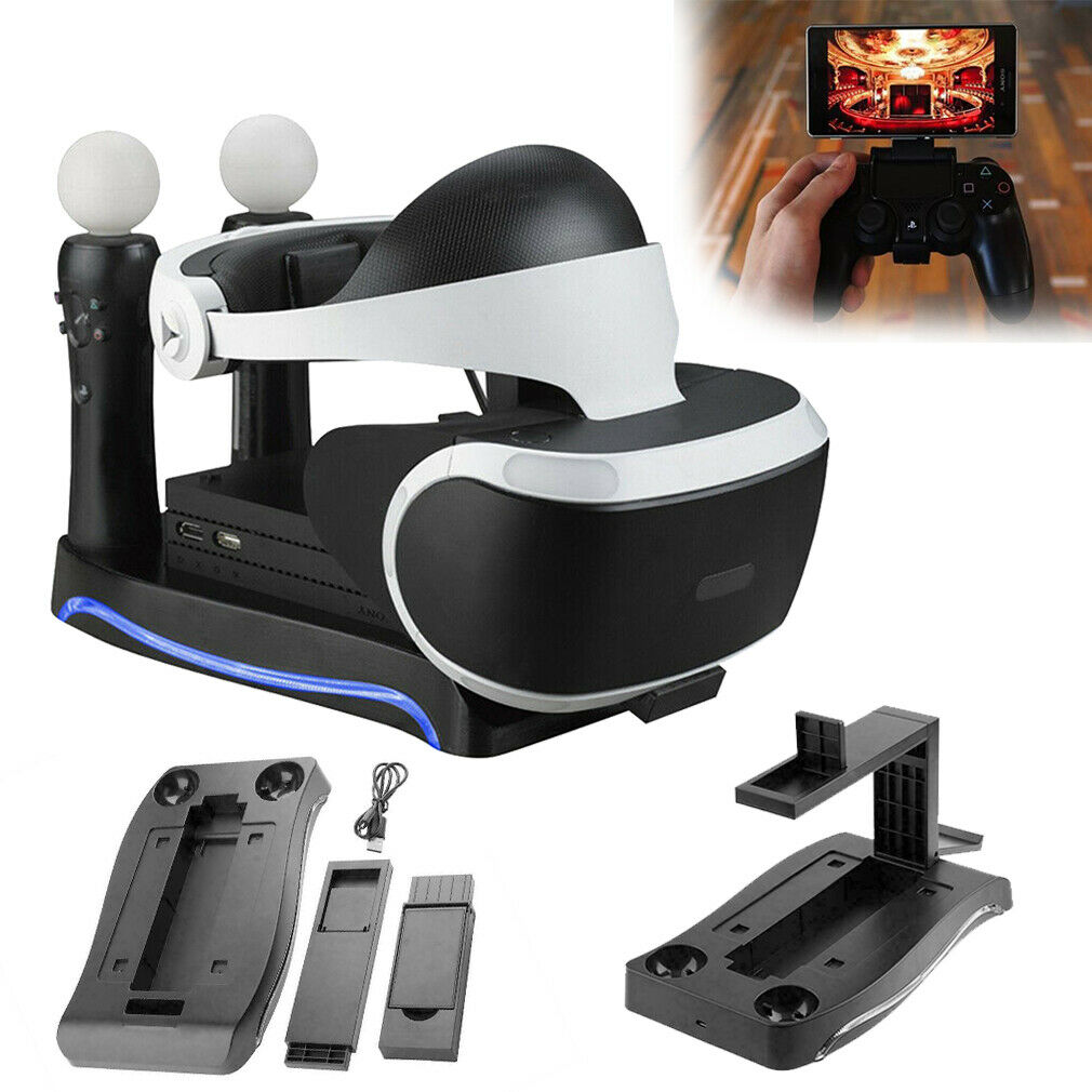 4 in 1 Charger Dock Charging StandHolder For PS4 VR II PS Game Controller Home