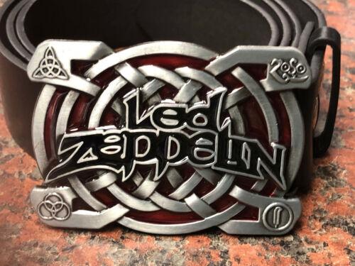Led Zeppelin logo BUCKLE FREE Belt heavy metal rock band