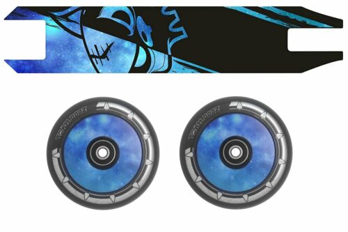 Grip Tape Combo Blue Pair  Galaxy Scooter Wheels Team Dogz 100mm Hollow Core