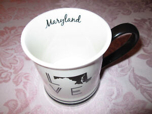Maryland State Love Mug 16 fl. oz. white and blue
