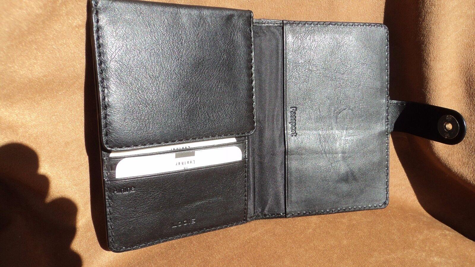 Lodis 6012SI Black Leather Passport Wallet