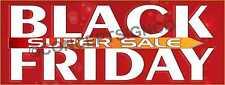 4'x10' BLACK FRIDAY SUPER SALE BANNER Outdoor Sign XL Retail Sales Thanksgiving