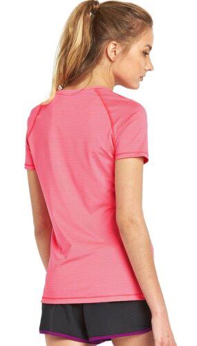 Under Armour M Women/'s Pink Alpha Stripe Fit T-Shirt BNWT 10-12 Heatgear RRP £25
