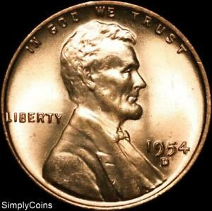 1954-D Denver Mint Lincoln Wheat Penny Cent Uncirculated BU