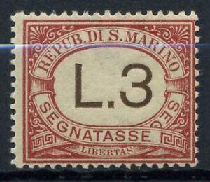 San-Marino-1940-Sass-7-Nuovo-100-segnatasse