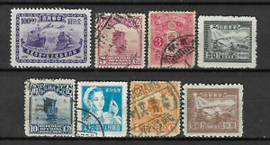 CHINA-Collection-8-Different-STAMPS-Mint-amp-Used