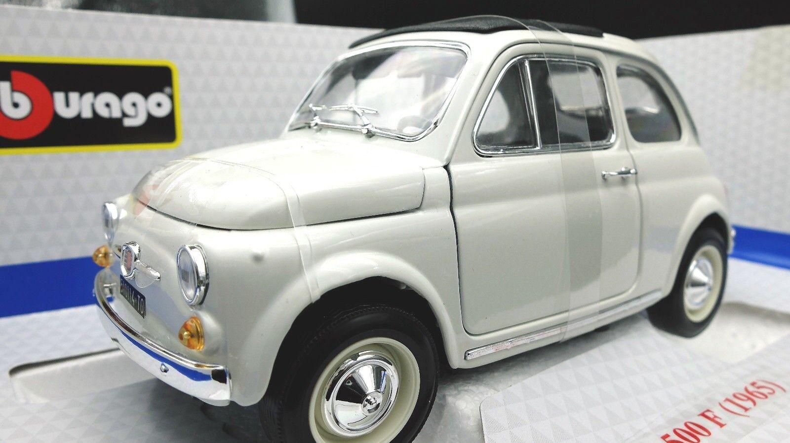 ventas de salida Vehículos de Juguete Auto Escala 1 18 Fiat 500 500 500 500F Diecast Burago Modelismo  estilo clásico
