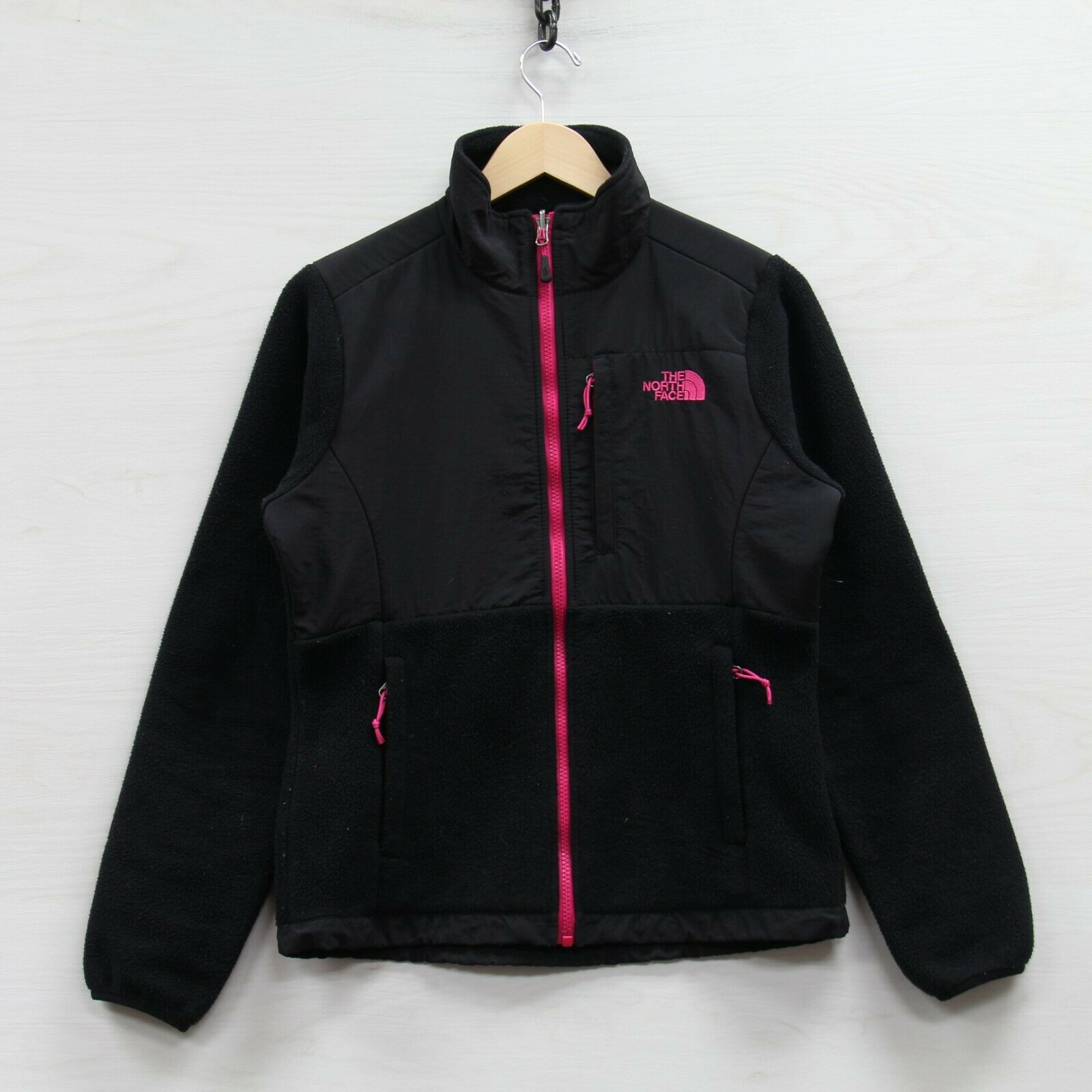 The North Face Denali Fleece Jacket Womens Size Small Black & Pink