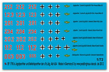 1/72 Beschriftung für 6 Jagdpanther und Befehlspanther, 1790