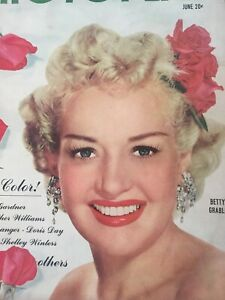 Vintage-Collectible-Movie-Magazine-Photoplay-Betty-Grable-Cover-June-1951