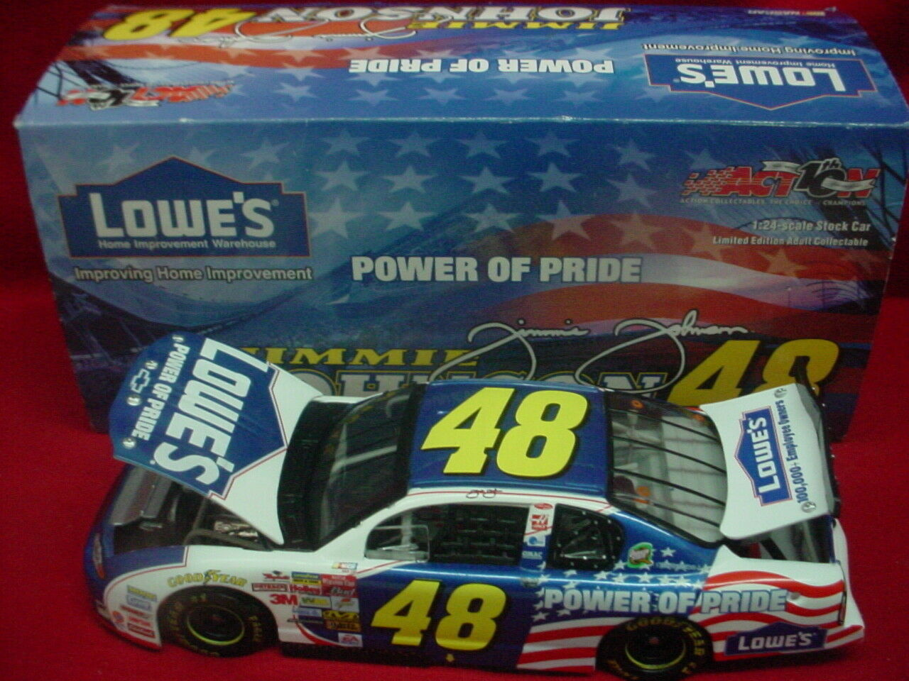 JIMMIE JOHNSON 2002 LOWES  POWER OF PRIDE  ROOKIE ROOKIE ROOKIE     1 24 69e72c