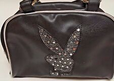 New Playboy Bling Bunny Purse Black Bag Handbag  Tote Faux Leather