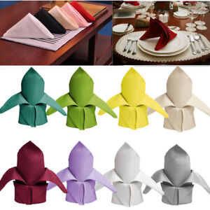 10-20-Polyester-Napkins-Table-Top-Linens-Decoration-Wedding-Party-Dinner-Supply