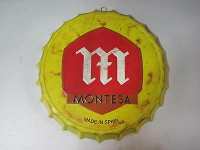 Montesa Decoración Cartel Placa Metal 42X4CM 450gr