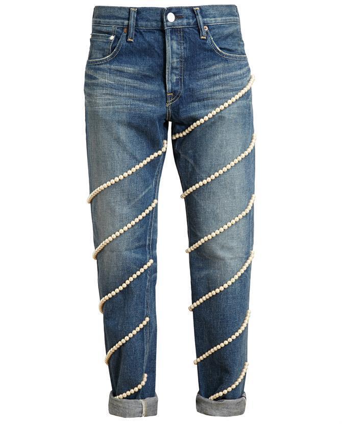 Tu es MON TRESOR Pearl Impreziosito Boyfriend Jeans