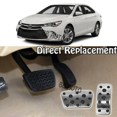 MYMOCCY Steel Gas Accelerator Brake Footrest Pedal Cover Fit for Lexus RX ES Toyota Camry 2012-2017 at Accessories