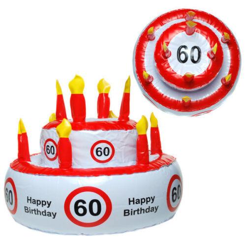 Geburtstagsdeko zum 60 Geburtstag Partyzubehör Dekoration  Verkehrsschild Deko