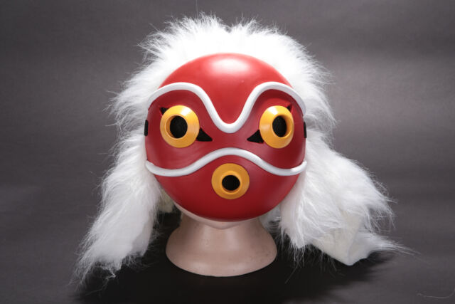 Anime Miyazaki Hayao Princess Mononoke Ashitaka Cosplay Mask Halloween Props For Sale Online Ebay