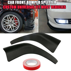 Paar-Auto-SUV-Universal-Vorne-Stossstange-Lippe-Spoiler-Splitter-Diffusor-Canard