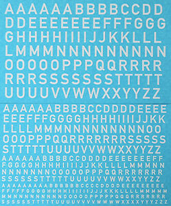 Lettres-Capitales-Blanc-Big-Letters-Blanc-1-43-Autocollant-Decalcomanie