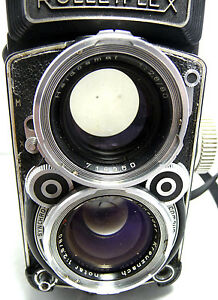 Heavy used Rare  Rolleiflex 2,8C-Model  K7C camera AS IS