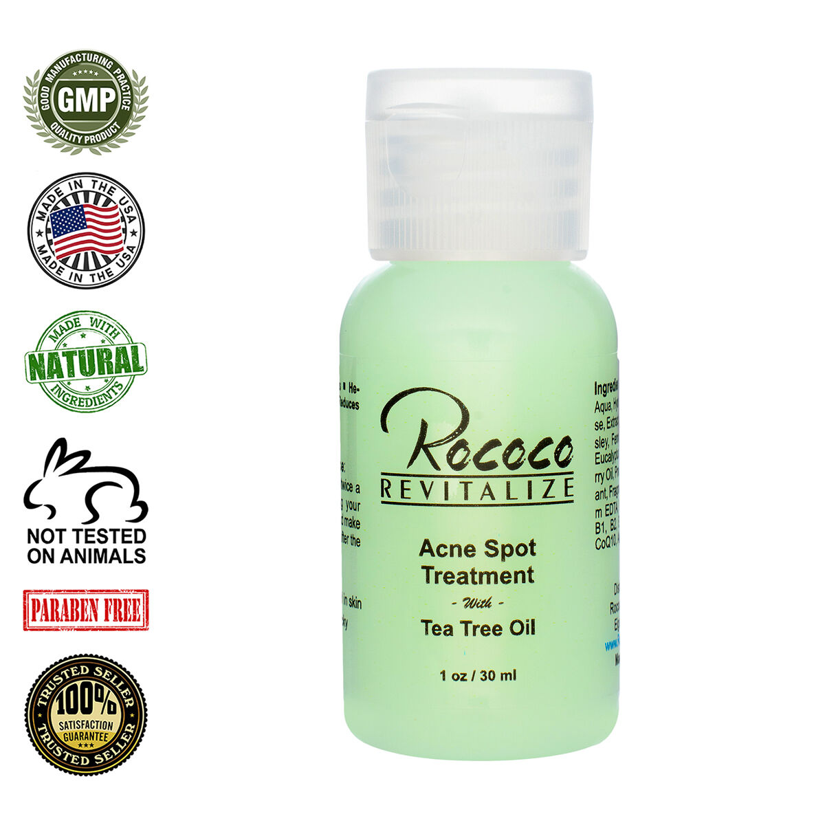All Natural Acne Spot Treatment With Tea Tree Oil 1oz 30 Ml Ebay Acnes Clay Mask 50g Norton Secured Powered By Verisign