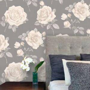 Rosa-Floral-Papier-Peint-Roses-Charbon-9767-Belgravia-Decor