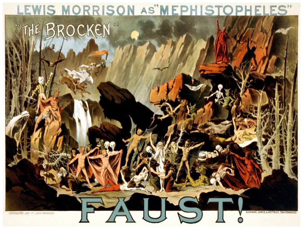 8865.Lewis morrison as mephistopheles.faust.POSTER.art wall decor graphic art