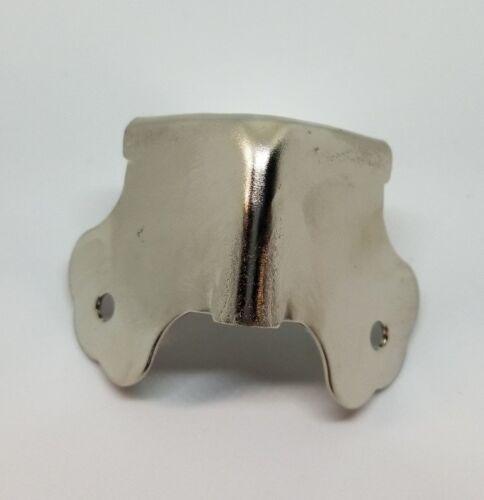 Nickel Plated Trunk Corner steamer chest box chrome satin cap cover antique v...