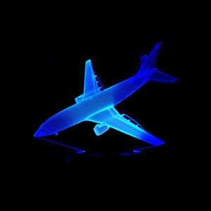 Air Plane 3D Night Light USB 7 Color Aircraft Table Lamp Birthday Holiday Gift