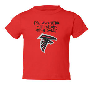 premium selection 0734a c517e Details about Atlanta Falcons Watching With Daddy Kids Toddler T-Shirt