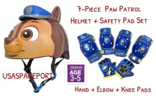 Paw Patrol BIKE HELMET Safety GLOVES+ELBOW+KNEE PAD SET Scooter Skates Toddler