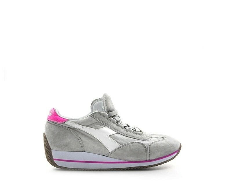 shoes DIADORA HERITAGE women SNEAKERS TRENDY  grey Scamosciato,Tessuto 156030