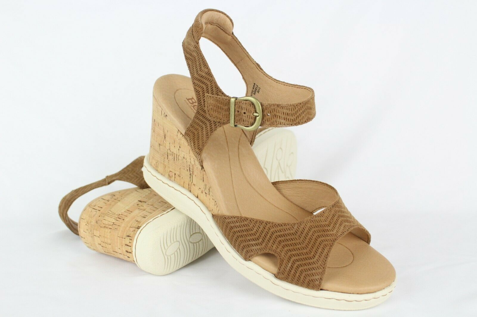New Born Women's Puno Ankle Strap Wedge Sandals 11m Brown Masala   F19906