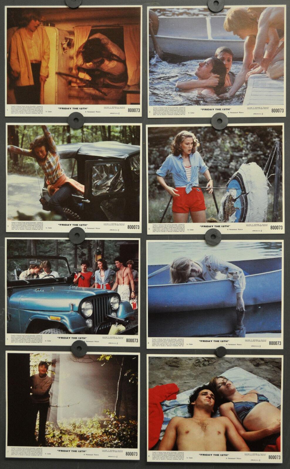 Friday The 13th 1980 Original 8X10 NM Lobby Karte Set Betsy Palmer Adrienne King