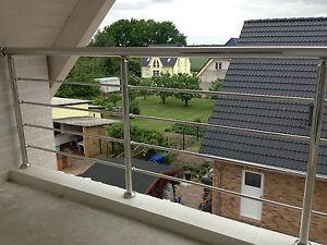 edelstahl gel nder balkon gel nder treppen gel nder sprossen waagerecht ebay. Black Bedroom Furniture Sets. Home Design Ideas