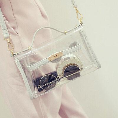 New Women Transparent Shoulder Bag Clear Handbag Tote Shoulder Bag Crossbody Bag