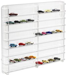 SORA-Modellvitrine-mit-transparenter-Rueckwand-fuer-1-87-Modellautos-und-Trucks