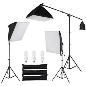 Photo-Studio-Photography-3-Softbox-Boom-Light-Stand-Continuous-Lighting-Kit