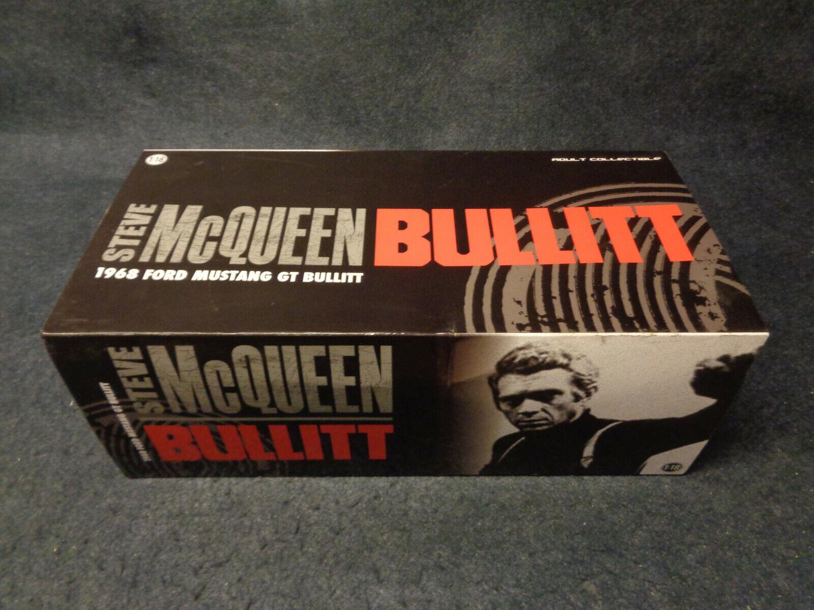 1968 FORD MUSTANG GT BULLIT STEVE MCQUEEN BULLIT vertLIGHT DIE CAST 1 18-O17-FL