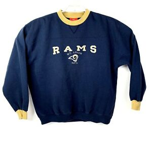 online retailer b1f82 1a8d5 VTG St. Louis Rams Embroidered Men Size XL NFL Sweatshirt ...