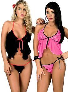 La foto se está cargando 7020-Dama-Sexy-Negro-Rosa-Bebe-Muneca-Peluche- db9b4863c