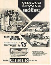 PUBLICITE ADVERTISING  1963   CIBIE   éclairage automobile