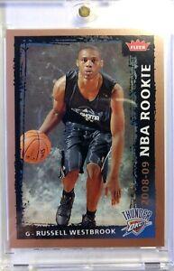 2008-FLEER-NBA-Rookie-Russell-Westbrook-Rookie-RC-204-OKC-Thunder